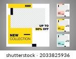 new set of editable minimal... | Shutterstock .eps vector #2033825936