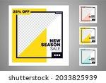 new set of editable minimal... | Shutterstock .eps vector #2033825939