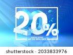 20 off. discount creative... | Shutterstock .eps vector #2033833976