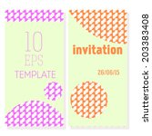 templates of invitations at... | Shutterstock .eps vector #203383408