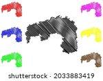 nordsachsen district  federal... | Shutterstock .eps vector #2033883419