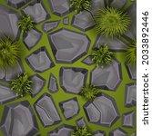 grass stone seamless pattern ...