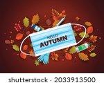 autumn stylish wood sale... | Shutterstock .eps vector #2033913500