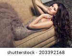 fashion photo of sexy glamour... | Shutterstock . vector #203392168