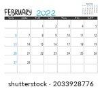 calendar 2022 year. february... | Shutterstock .eps vector #2033928776