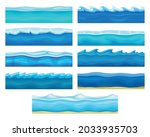 blue water surface with ice and ...