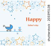 vector father's day card | Shutterstock .eps vector #203395138
