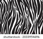 seamless pattern with zebra... | Shutterstock .eps vector #2033954696