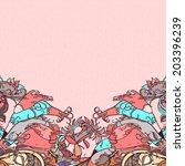 decorative floral background ... | Shutterstock .eps vector #203396239