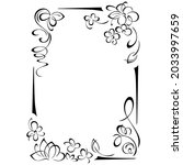 decorative vertical frame with... | Shutterstock .eps vector #2033997659