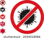 triangle stop covid infection...   Shutterstock .eps vector #2034018086