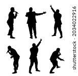 popular singer super star... | Shutterstock .eps vector #2034022916