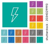 flash outline multi colored... | Shutterstock .eps vector #2034029993