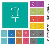 push pin outline multi colored... | Shutterstock .eps vector #2034030029