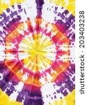 tie dye fabric texture... | Shutterstock . vector #203403238