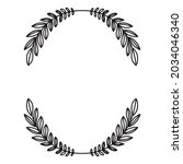 laurel wreath. vector hand...   Shutterstock .eps vector #2034046340