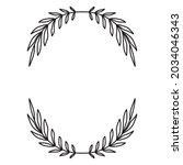 laurel wreath. vector hand...   Shutterstock .eps vector #2034046343