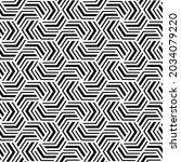 geometric seamless pattern.... | Shutterstock .eps vector #2034079220