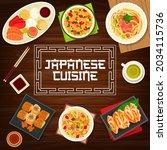 japanese food  asian cuisine... | Shutterstock .eps vector #2034115736
