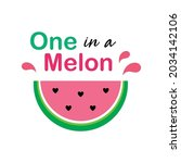 watermelon one in a melon...   Shutterstock .eps vector #2034142106