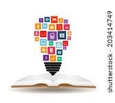 abstract creative concept... | Shutterstock .eps vector #203414749