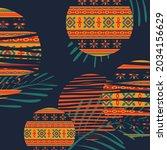 vector of orange  yellow and... | Shutterstock .eps vector #2034156629
