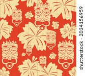 vector of exotic masks and... | Shutterstock .eps vector #2034156959