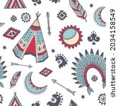 vector of tribal design with... | Shutterstock .eps vector #2034158549