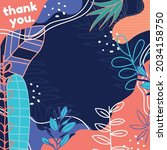 vector of thank you text  in... | Shutterstock .eps vector #2034158750