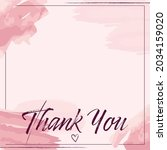 vector of thank you text  in... | Shutterstock .eps vector #2034159020