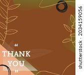 vector of thank you text  in... | Shutterstock .eps vector #2034159056