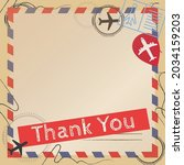 vector of thank you text  in... | Shutterstock .eps vector #2034159203