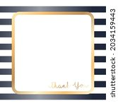 vector of thank you text  in... | Shutterstock .eps vector #2034159443