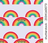 vector of thank you text  in... | Shutterstock .eps vector #2034160073