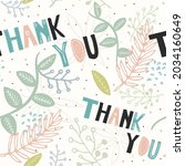 vector of thank you text  in... | Shutterstock .eps vector #2034160649
