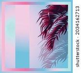 vector of dark purple tropical... | Shutterstock .eps vector #2034162713