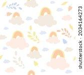 vector of pink and orange... | Shutterstock .eps vector #2034164273
