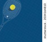 vector of tennis racket and... | Shutterstock .eps vector #2034164810
