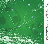 vector of footballs over green... | Shutterstock .eps vector #2034166199
