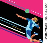 vector of volleyball or... | Shutterstock .eps vector #2034167420