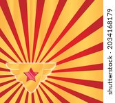 vector of golden winged emblem... | Shutterstock .eps vector #2034168179