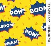 vector of pow  boom wham text... | Shutterstock .eps vector #2034169166