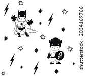 vector of two cartoon... | Shutterstock .eps vector #2034169766