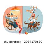 loud noisy neighbours...   Shutterstock .eps vector #2034170630