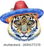 tiger horoscope character...   Shutterstock . vector #2034177170