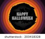 halloween background circle...   Shutterstock . vector #203418328