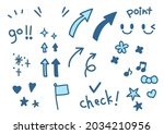 a set of hand drawn... | Shutterstock .eps vector #2034210956