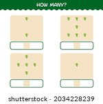 how many cartoon leek. counting ... | Shutterstock .eps vector #2034228239