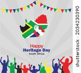 heritage day in south africa....   Shutterstock .eps vector #2034230390