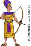 Ancient Egyptian Warrior On A...